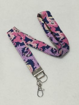 Lanyard Made with My Little Pony Fabric - Fluttershy, Pinky Pie and Twilight Sparkle