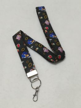 Lanyard Made With Sonic The Hedgehog fabric