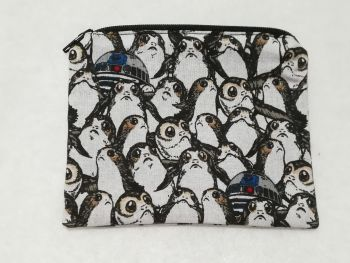 Coin Purse Made With Star Wars Fabric - Porg