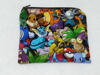 Coin Purse Made With Pokemon Fabric - Pokemon packed