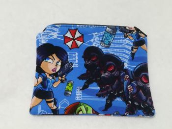 Coin Purse Made With Resident Evil Fabric