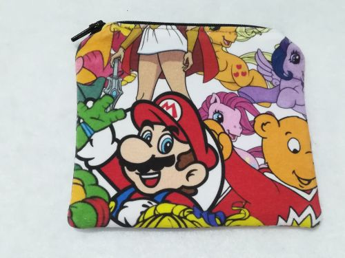 Coin Purse Made With 1980's Mashup Fabric