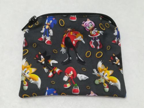 Coin Purse Made With Sonic The Hedgehog Fabric