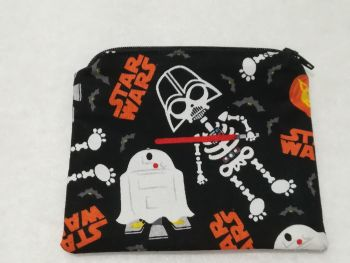 Coin Purse Made With Star Wars Fabric - Halloween / Glow in the dark