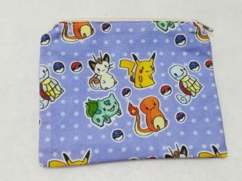 Coin Purse Made With Pokemon Fabric - Chibi Pokemon
