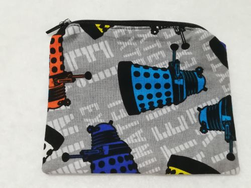 Coin Purse Made With Doctor Who Fabric - Daleks