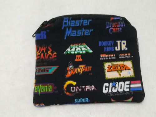 Coin Purse Made With Retro Games Fabric