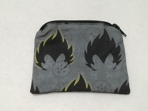 Coin Purse Made With Dragon Ball Z Fabric - Vegeta