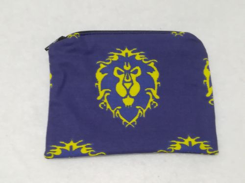 Coin Purse Made With World Of Warcraft Fabric - Alliance