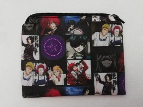 Zipper Pouch Made with Black Butler fabric