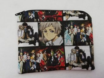Zipper Pouch Made with Bungos Stray Dogs fabric