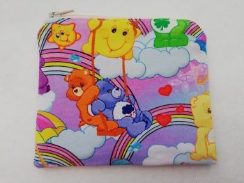 Zipper Pouch Made with Care Bear fabric - Lilac
