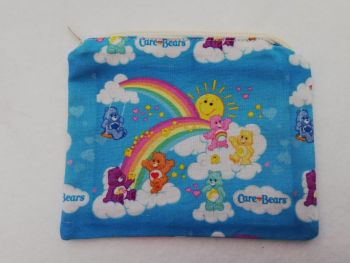 Zipper Pouch Made with Care Bears fabric
