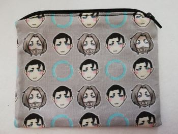 Zipper Pouch Made with Detroit Become Human fabric