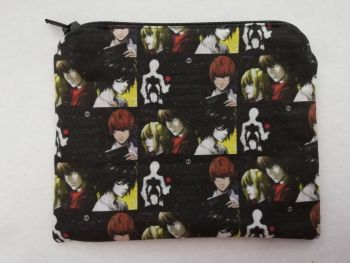Zipper Pouch Made with Death Note fabric