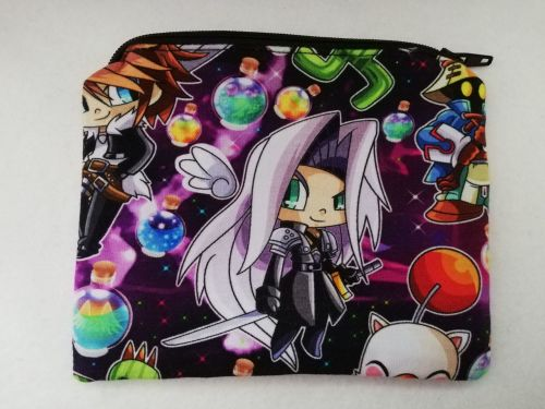 Zipper Pouch Made with Final Fantasy fabric