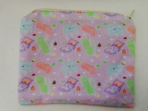Zipper Pouch Made with Kawaii controllers fabric