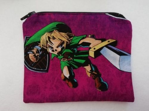 Zipper Pouch Made with The Legend Of Zelda fabric - Ocarina Of Time