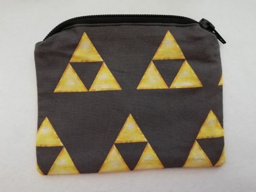 Zipper Pouch Made with The Legend Of Zelda fabric - Triforce