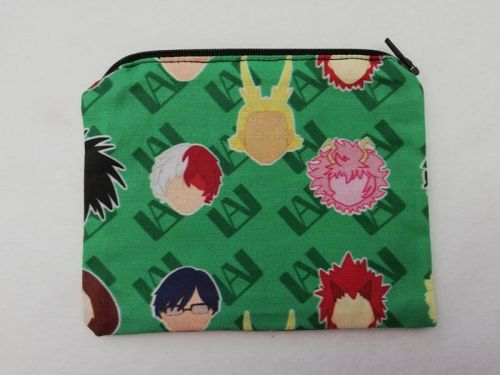 Zipper Pouch Made with My Hero Academia fabric - Green