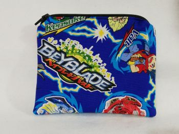 Zipper Pouch Made with Beyblade fabric