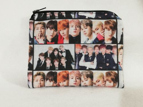 Zipper Pouch Made with BTS fabric