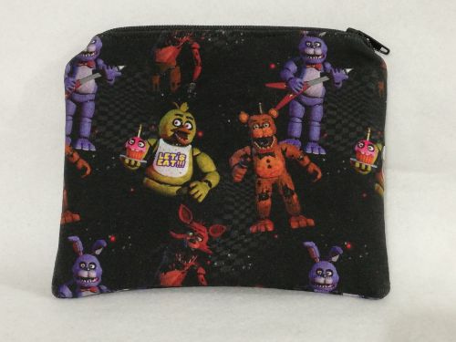 Zipper Pouch Made with Five Nights At Freddies fabric