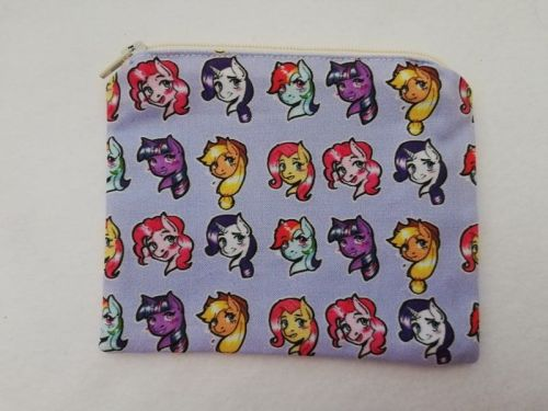 Zipper Pouch Made with My Little Pony Fabric - Ponebooth Exclusive Design