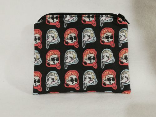 Zipper Pouch Made with Good Omens fabric