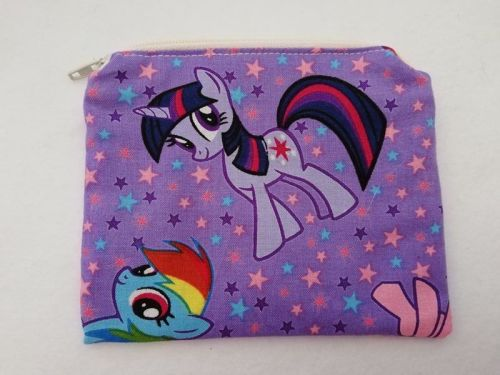 Zipper Pouch Made with My Little Pony fabric - Purple