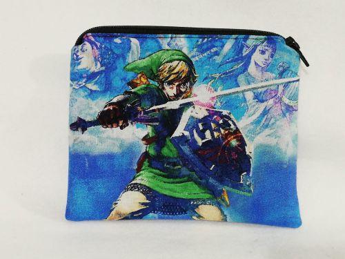 Zipper Pouch Made with The Legend Of Zelda fabric - Skyward Sword