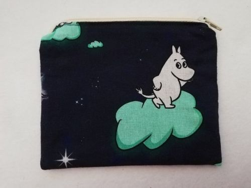 Zipper Pouch Made with Moomins fabric