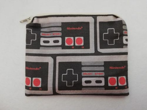 Zipper Pouch Made with NES Controller fabric