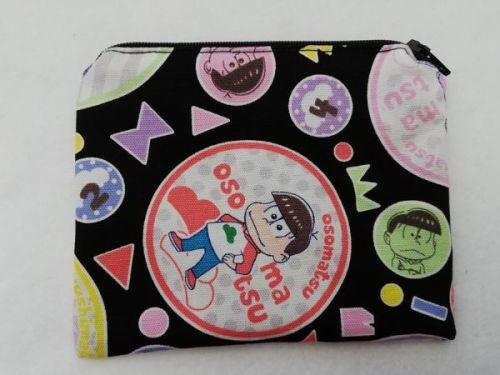 Zipper Pouch Made with Osomatsu fabric