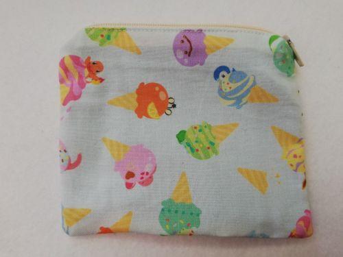 Zipper Pouch Made with Pokemon fabric - Ice Cream Pokemon