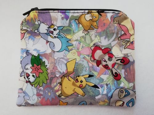 Zipper Pouch Made with Pokemon fabric