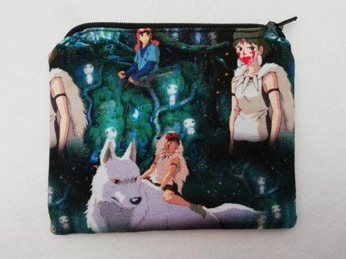 Zipper Pouch Made with Princess Mononoke fabric