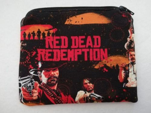 Zipper Pouch Made with Red Dead Redemption fabric
