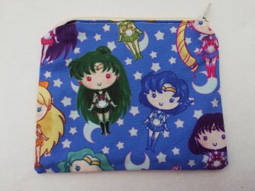 Zipper Pouch Made with Sailor Moon fabric