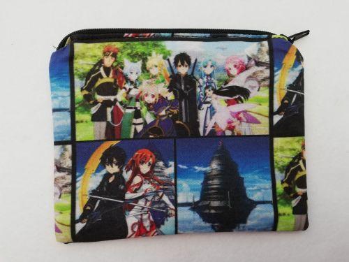 Zipper Pouch Made with Sword Art Online fabric