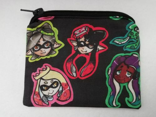 Zipper Pouch Made with Splatoon fabric