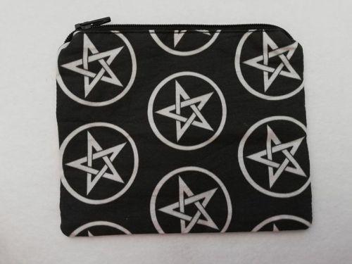Zipper Pouch Made with Supernatural fabric - Pentagram