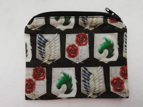 Zipper Pouch Made with Attack On Titan fabric