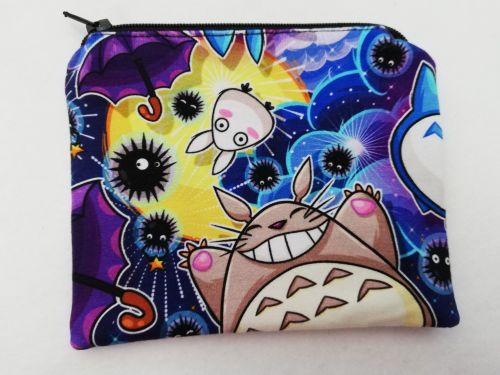 Zipper Pouch Made with Totoro fabric