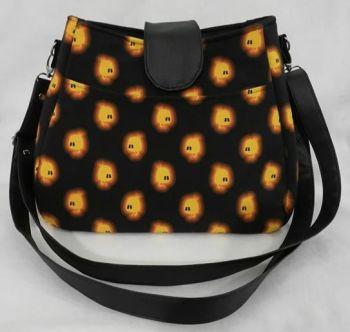 Handbag made with Fireflies fabric.