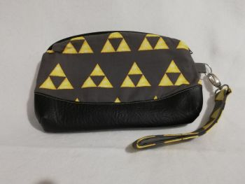 Clutch bag made with Triforce fabric