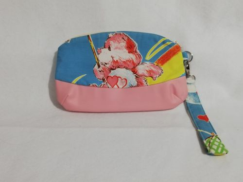 *Slight Seconds*  Clutch bag made with vintage Care Bear fabric