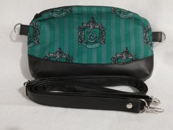 Clutch / Crossbody bag made with Slytherin fabric