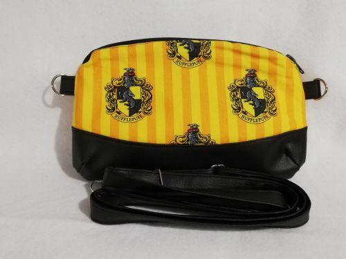 Clutch / Crossbody bag made with Hufflepuff fabric