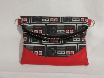 "Large "" Heidi "" foldover cross body bag made with NES fabric"